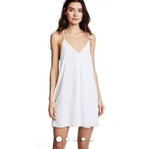 Alice + Olivia Fierra Y Back Tank Dress White